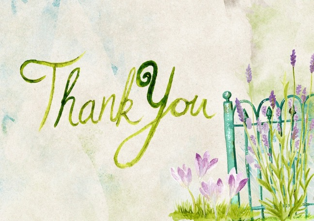 Message Thank You Greeting Purple Card Thanks